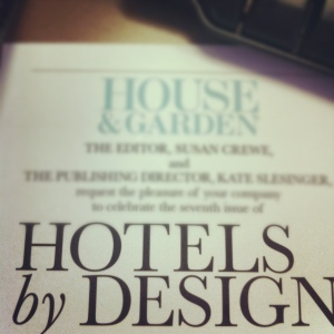 Invitation to hotels by design